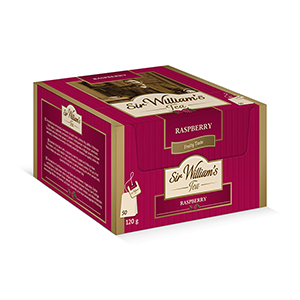 Sir William's Tea RASPBERRY. 50 szt. x 2,4 g